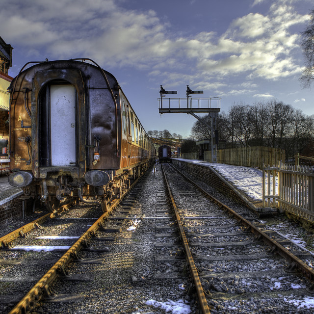 """Cheddleton Station"" stock image"