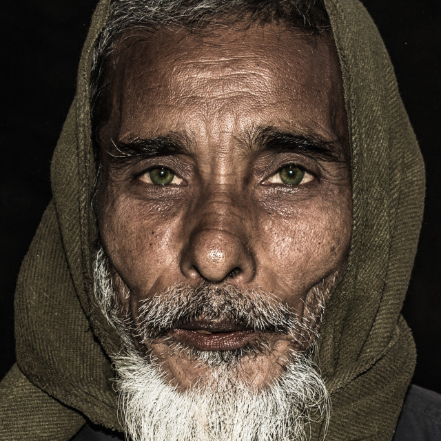 """The Old man with Olive Eyes"" stock image"