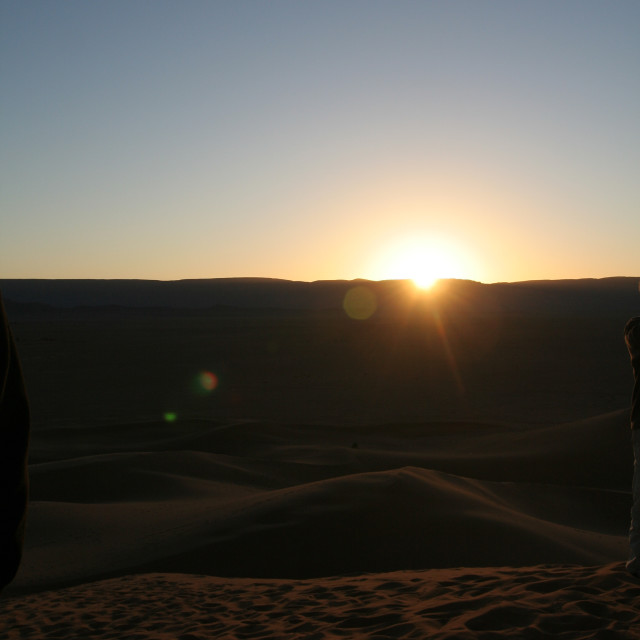 """Sunrise in the Sahara"" stock image"