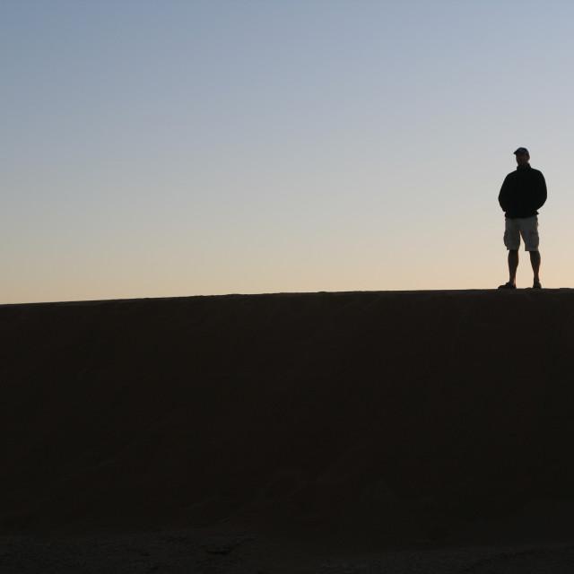 """""""Saharan silhouette"""" stock image"""