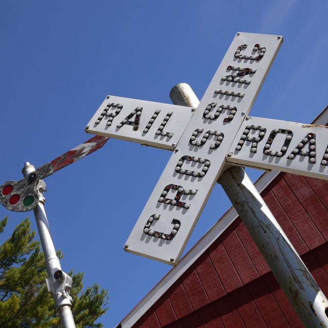 """Railroad Crossing"" stock image"
