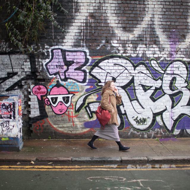 """Shoreditch street art"" stock image"