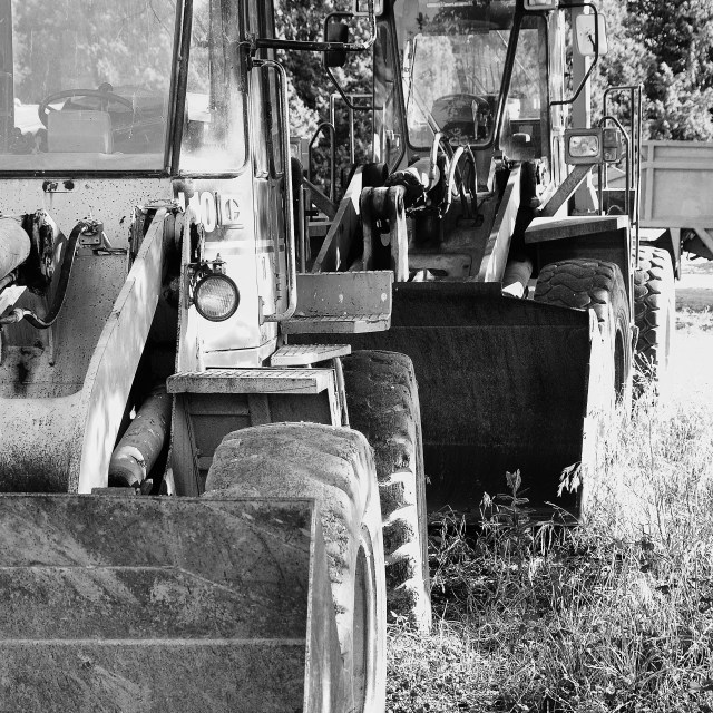 """Old Loaders"" stock image"
