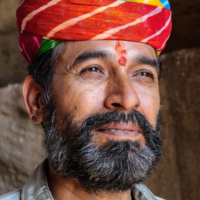 """Traditional healer of Rajsthan"" stock image"