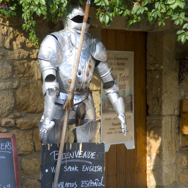 """""""Armor teaches of restaurant with Domme"""" stock image"""