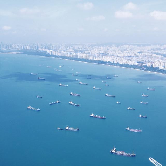 """Singapore shore"" stock image"