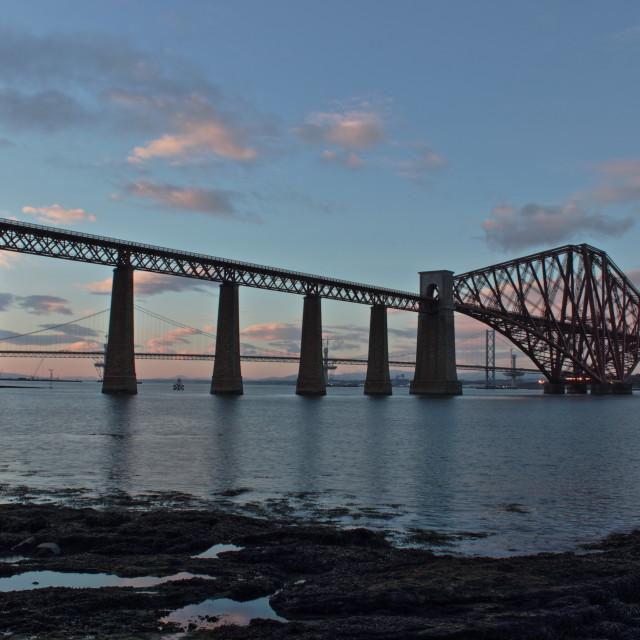 """The Forth Bridges"" stock image"