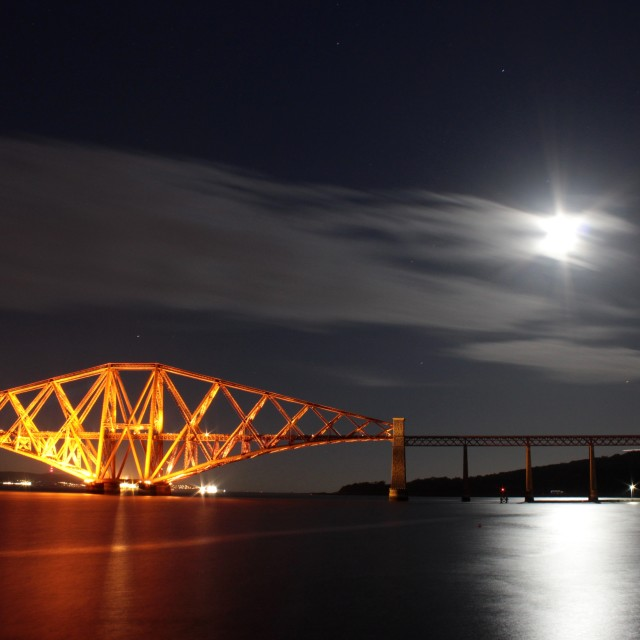 """""""Moonlight On The Forth"""" stock image"""