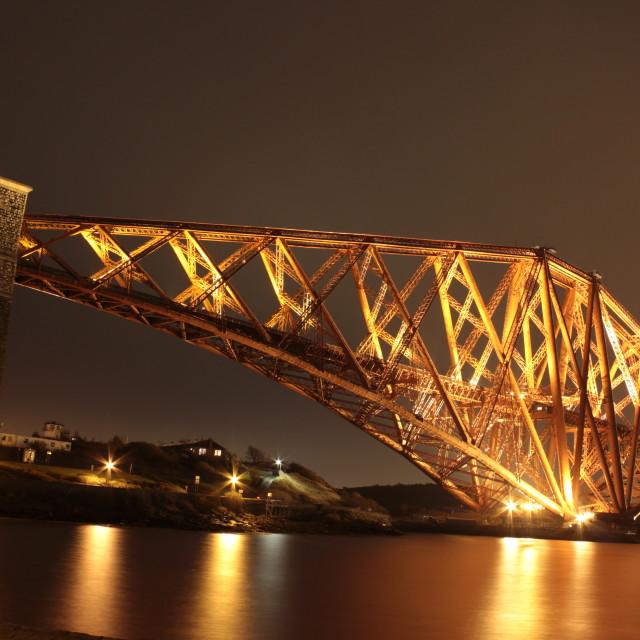 """The Rail Bridge"" stock image"