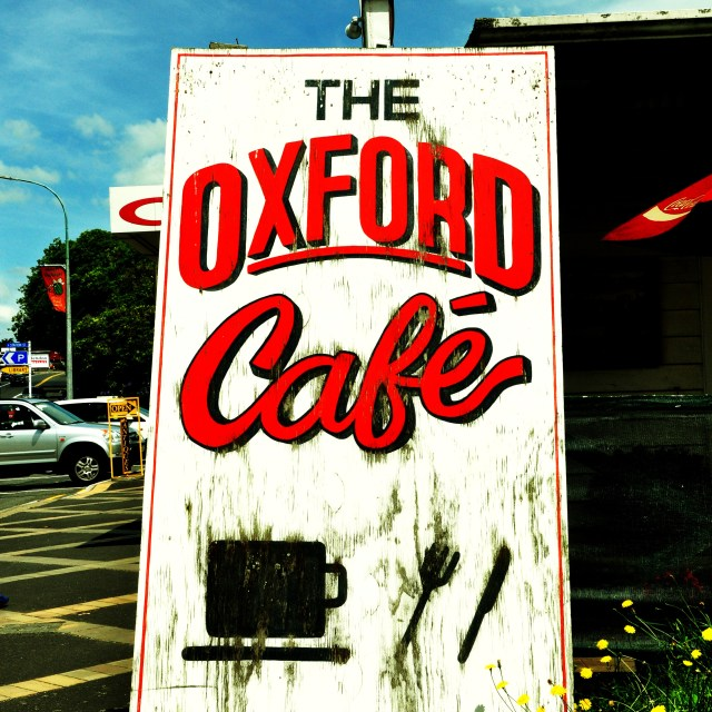 """Oxford Cafe Sign"" stock image"
