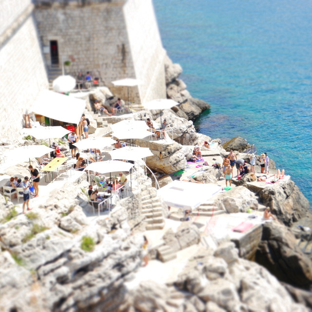 """""""Lunchtime in Dubrovnik"""" stock image"""