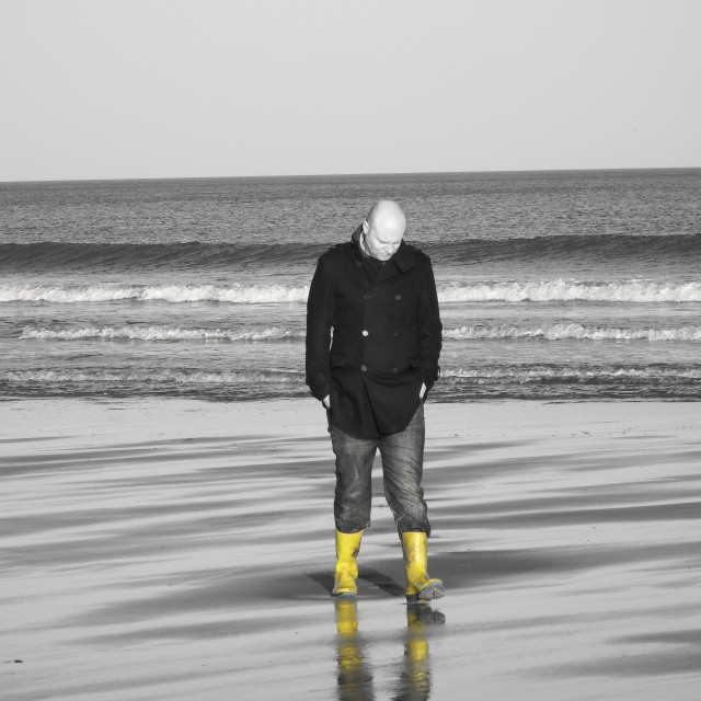 """""""Contemplating in Whitby"""" stock image"""