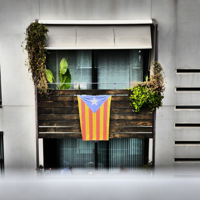 """Catalan Flag in Barcelona"" stock image"