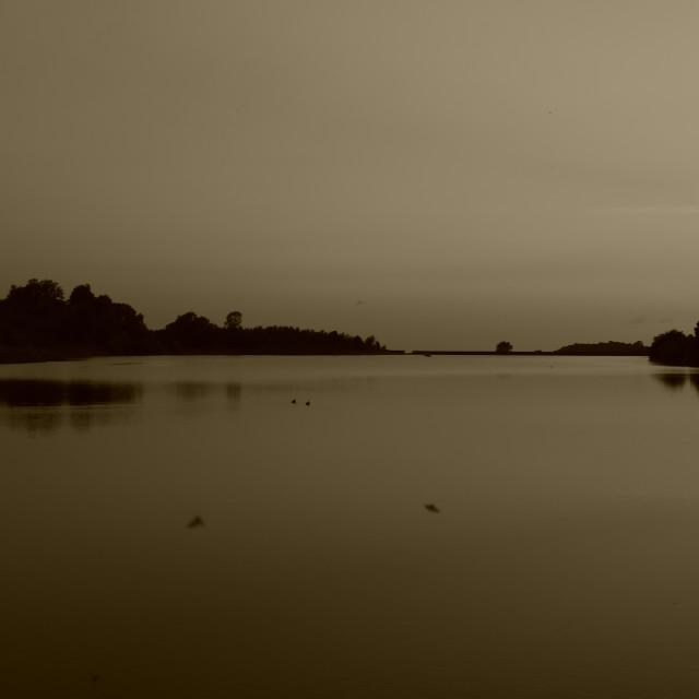 """Reservoir at Dusk"" stock image"