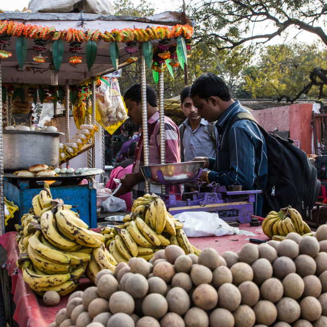 """Street fruit vendor"" stock image"