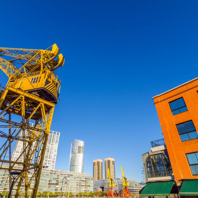 """Crane and Skyscrapers"" stock image"
