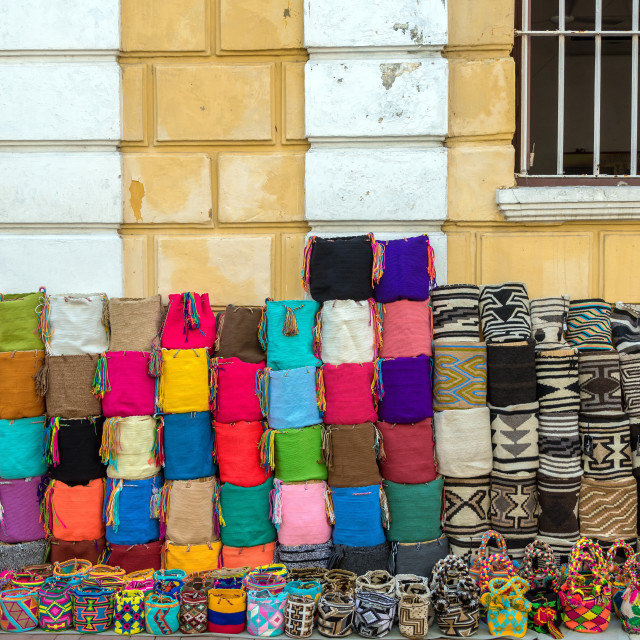 """Handicrafts in Cartagena"" stock image"