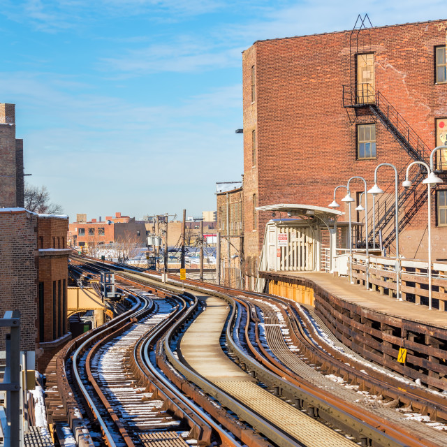 """Elevated Tracks in Chicago"" stock image"