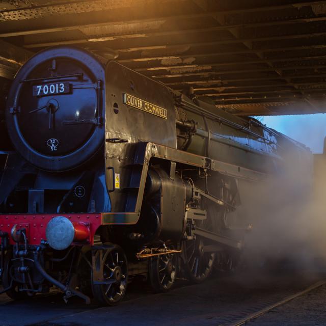 """""""BR Britannia No.70013 Oliver Cromwell"""" stock image"""