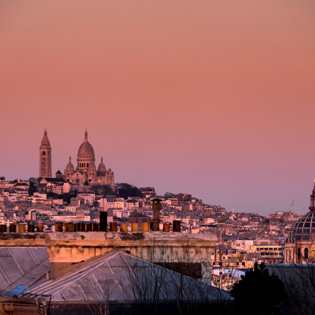 """Paris Roof Tops - Sacre Cour"" stock image"