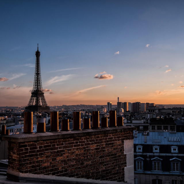 """Paris Roof Tops - Eiffel Tower"" stock image"