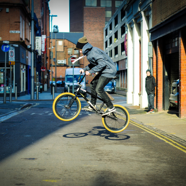 """Urban Stunt Rider ."" stock image"
