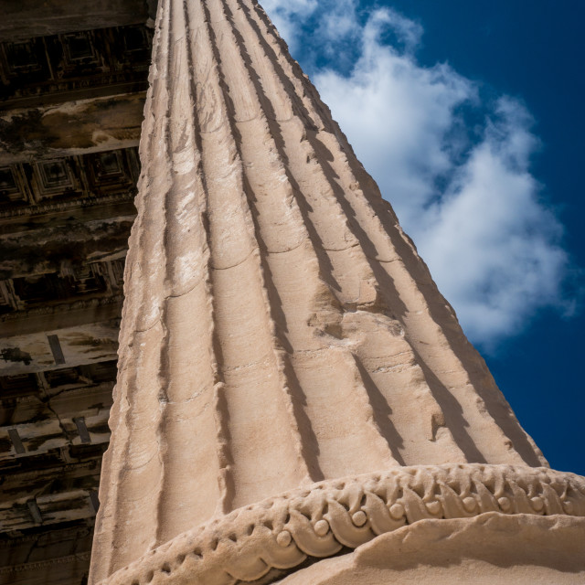 """Ancient Pillar in the Acropolis of Athens"" stock image"