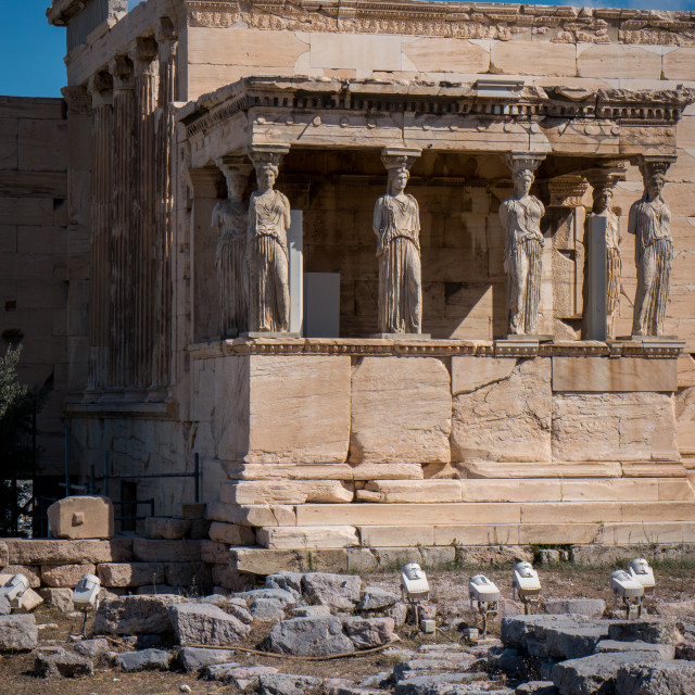 """The Erechtheum in Acropolis of Athens"" stock image"