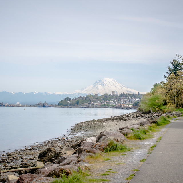 """Commencement Bay & Mt. Rainier"" stock image"