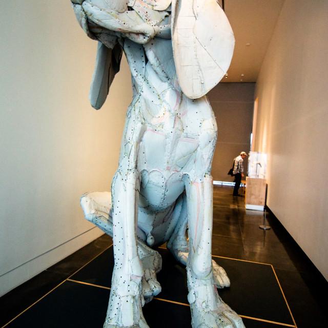 """""""Big Dog Sculpture Tacoma"""" stock image"""