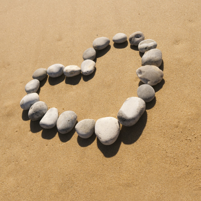 """pebble heart"" stock image"