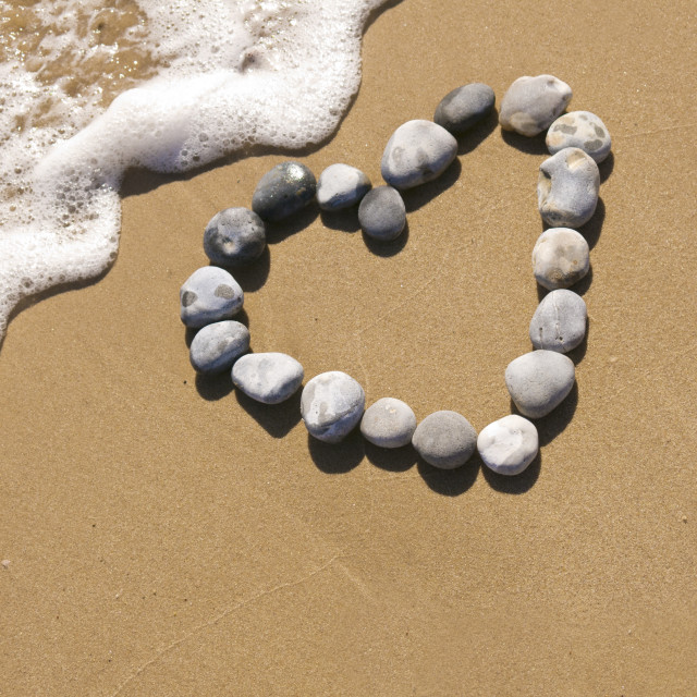 """Pebble love"" stock image"