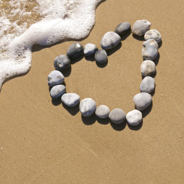 """Pebble love"" stock image"