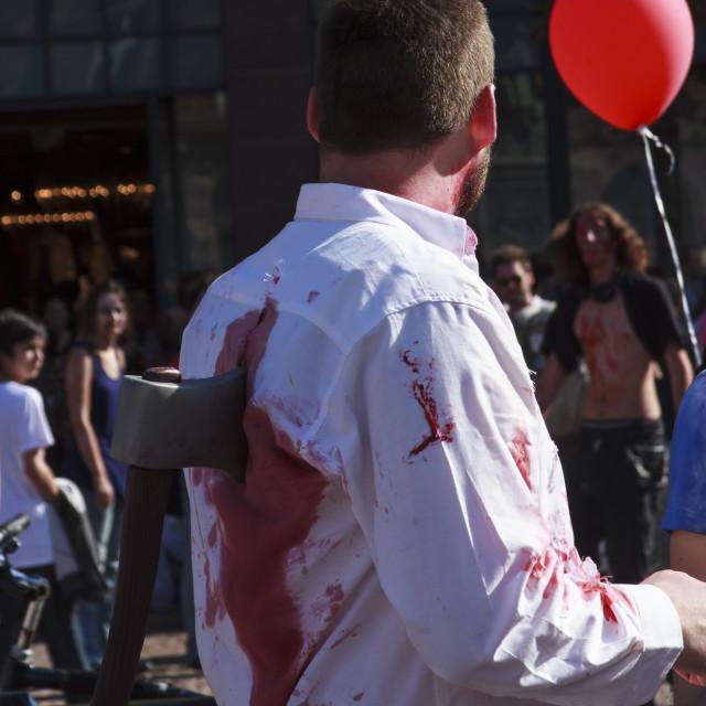 """""""The Zombie Walk in Strasbourg -"""" stock image"""