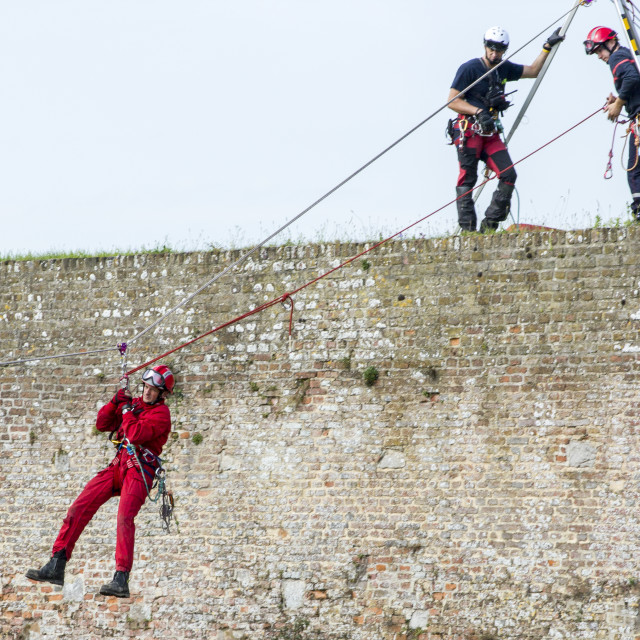 """""""Abseiling"""" stock image"""