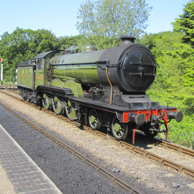 """B12 on the North Norfolk Railway"" stock image"