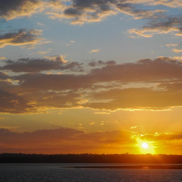 """Queensland sunset"" stock image"