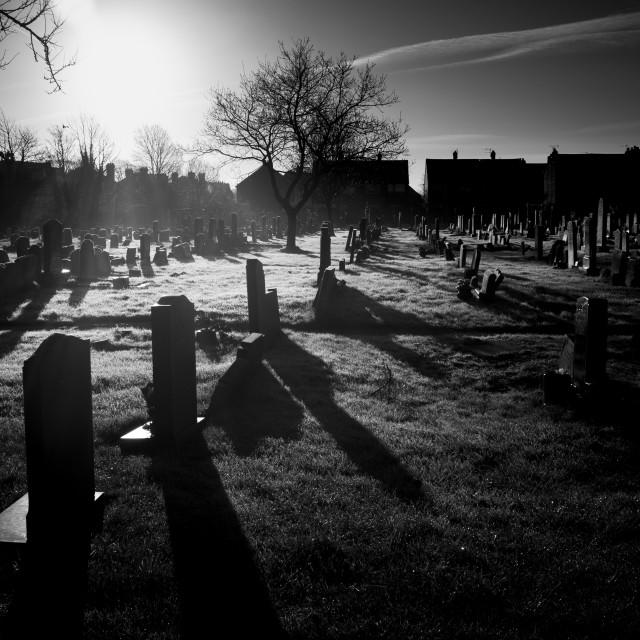 """Graveyard Sunrise"" stock image"