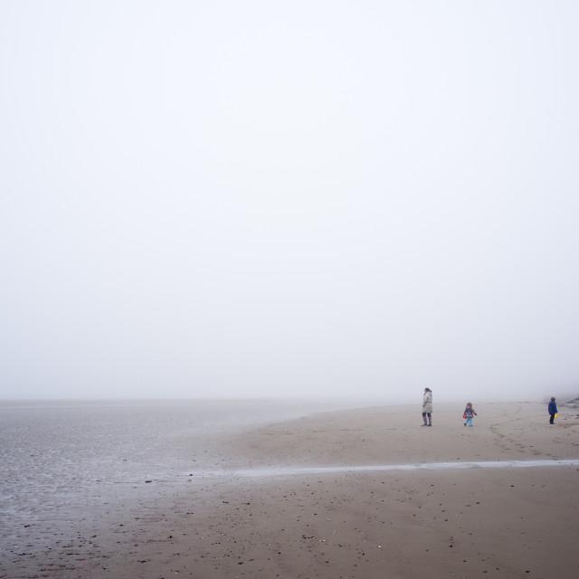 """Beach Fog"" stock image"