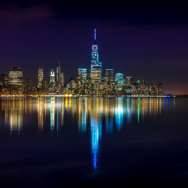 """New York Reflections"" stock image"