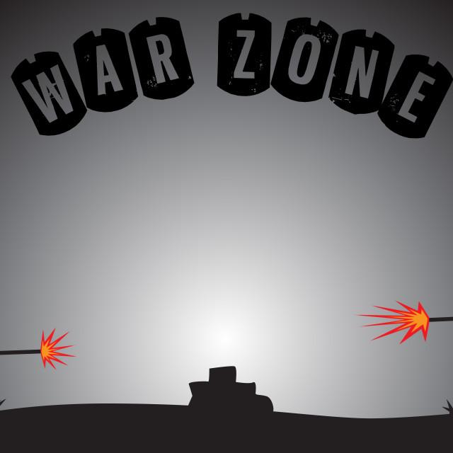 """Empty War Zone"" stock image"