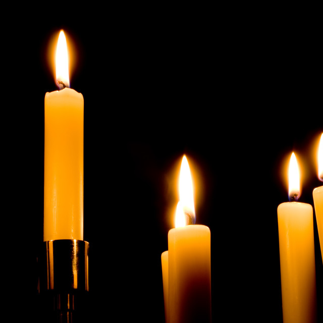 """Candles Isolated on Black Background"" stock image"