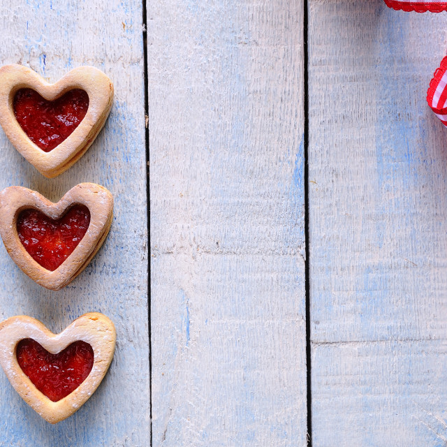 """Homemade cookies for Valentine."" stock image"