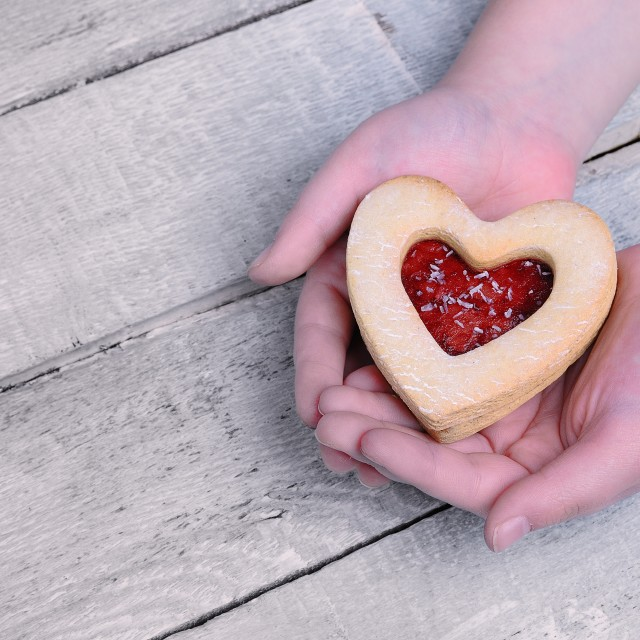 """""""Homemade cookies for Valentine."""" stock image"""