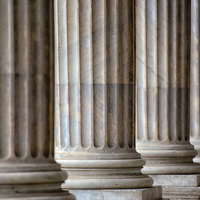 """Colonnade In Rome"" stock image"