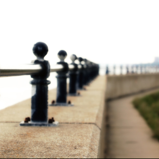 """""""Looking down the seafront"""" stock image"""