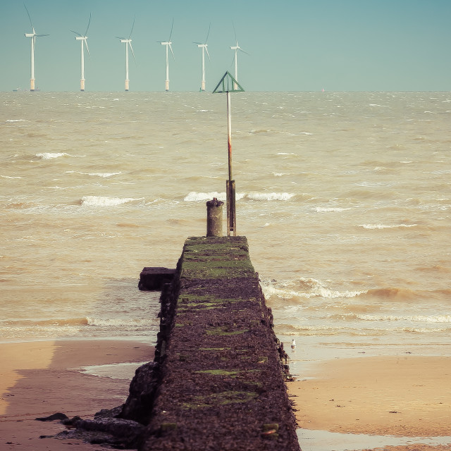 """""""Looking Towards The Sea"""" stock image"""