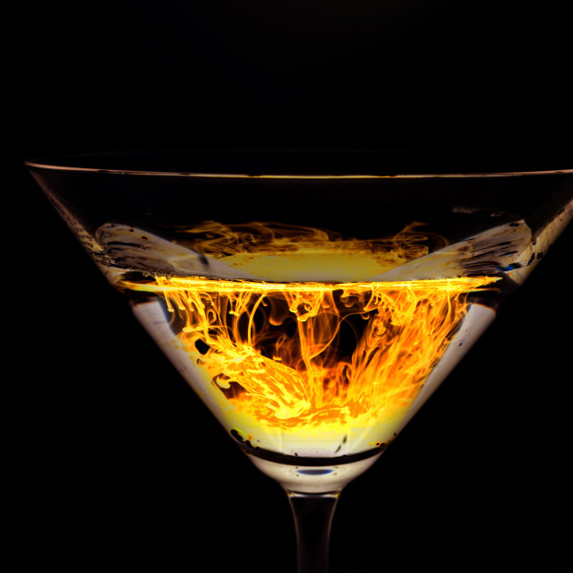 """""""Fire in a glass"""" stock image"""