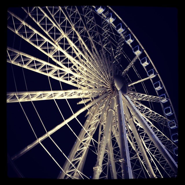 """Wheel at night"" stock image"