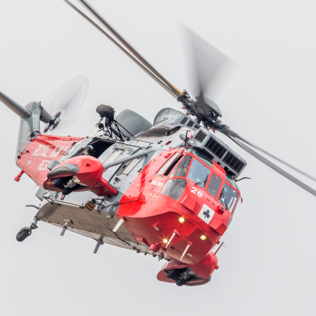 """Royal Navy Sea King"" stock image"